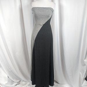 Mossimo color block strapless Maxi dress